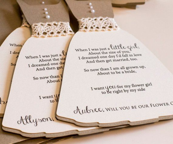 Flower Girl Proposal Card Sky Blue Will You Be Our Flower