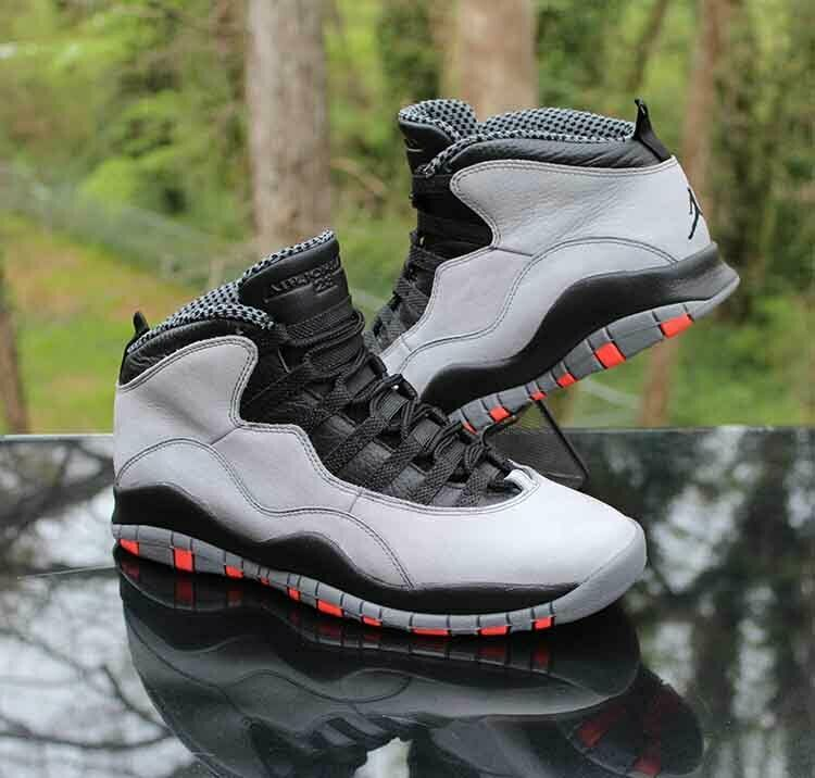 official photos f5d63 cbad1 Nike Air Jordan 10 Retro Cool Grey Men s Size 9.5 Infrared Black 310805-023   Jordan  BasketballShoes