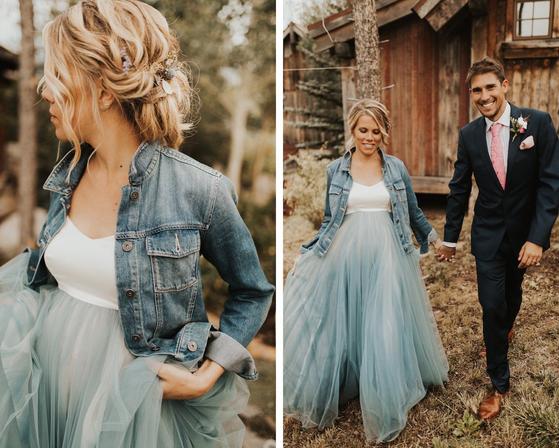 Real Bride Colby Sam Denim Wedding Blue Wedding Dresses Jeans Wedding [ 1200 x 1500 Pixel ]