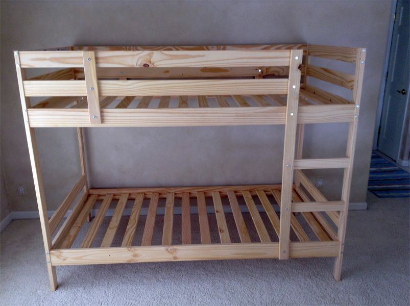 Cocoon Mydal Bunk Bed With Reading Nook Wooden Bunk Beds Ikea