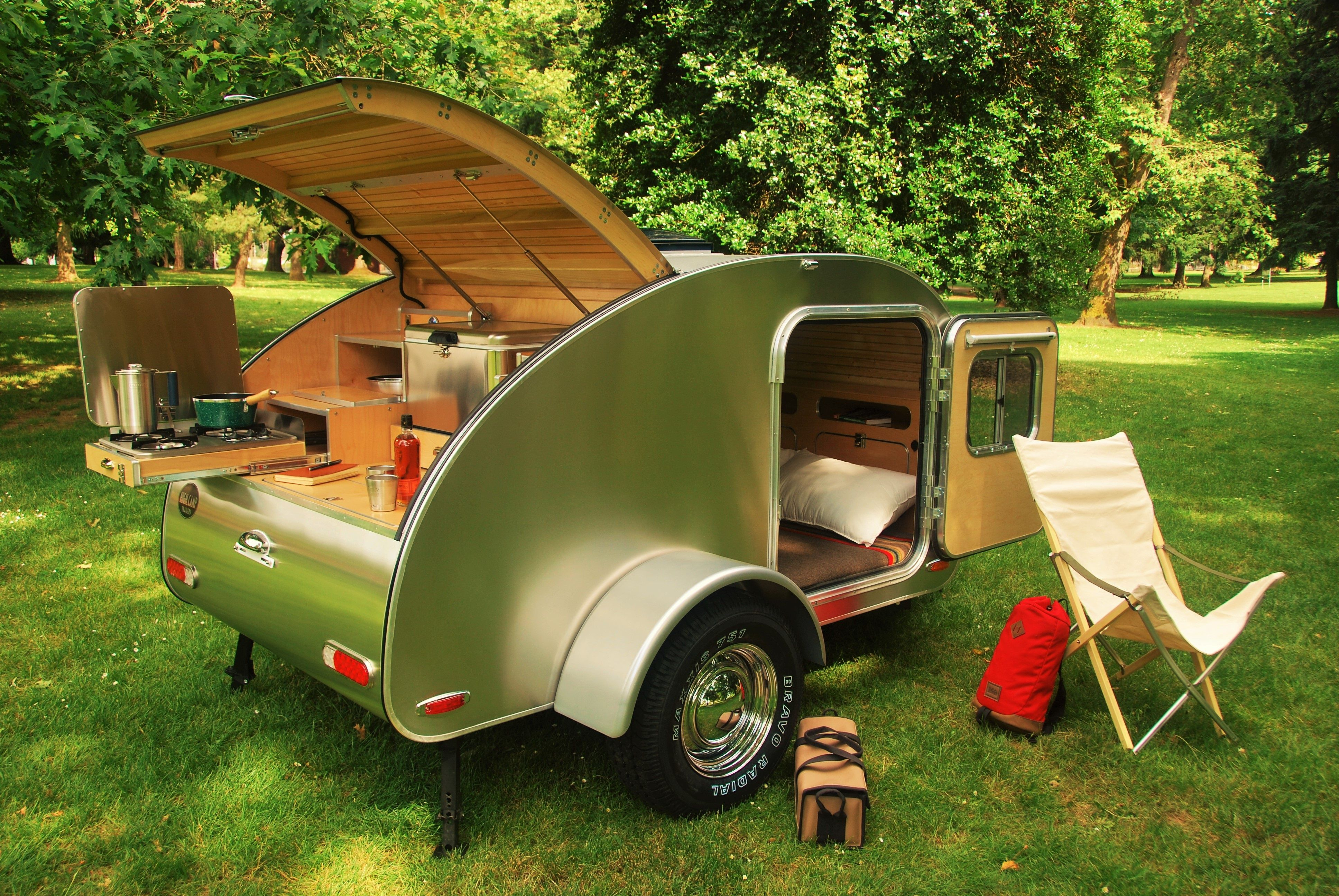 High Camp Trailers' classic teardrop trailer built in