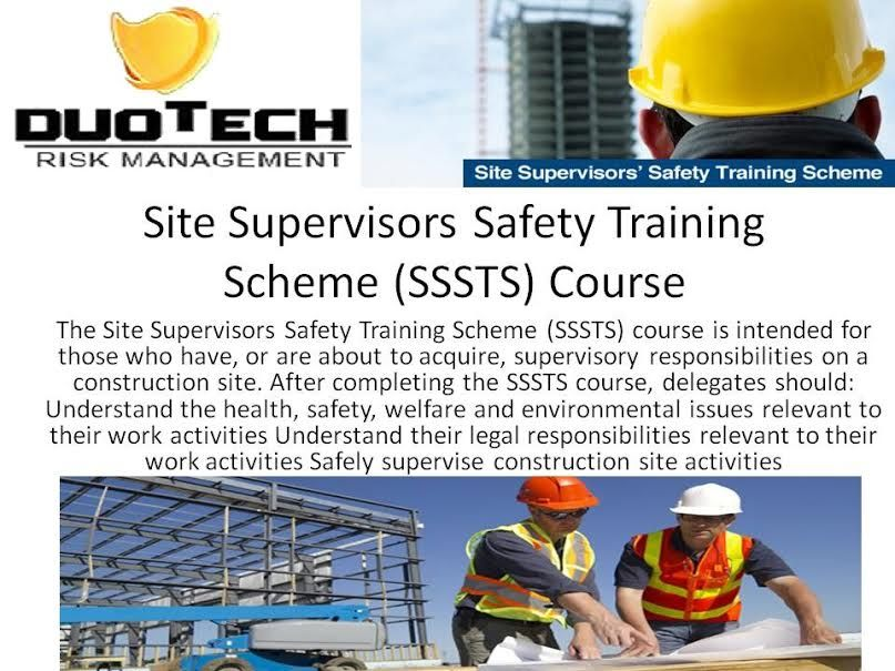 Site Supervisors Safety Training Scheme (SSSTS) Course