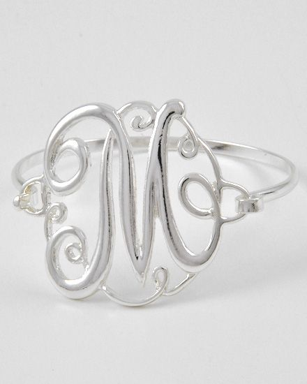 New Desigh Initial Letter M Bangle High Quality 26 Initials Letters Bracelets Jewelry B00001