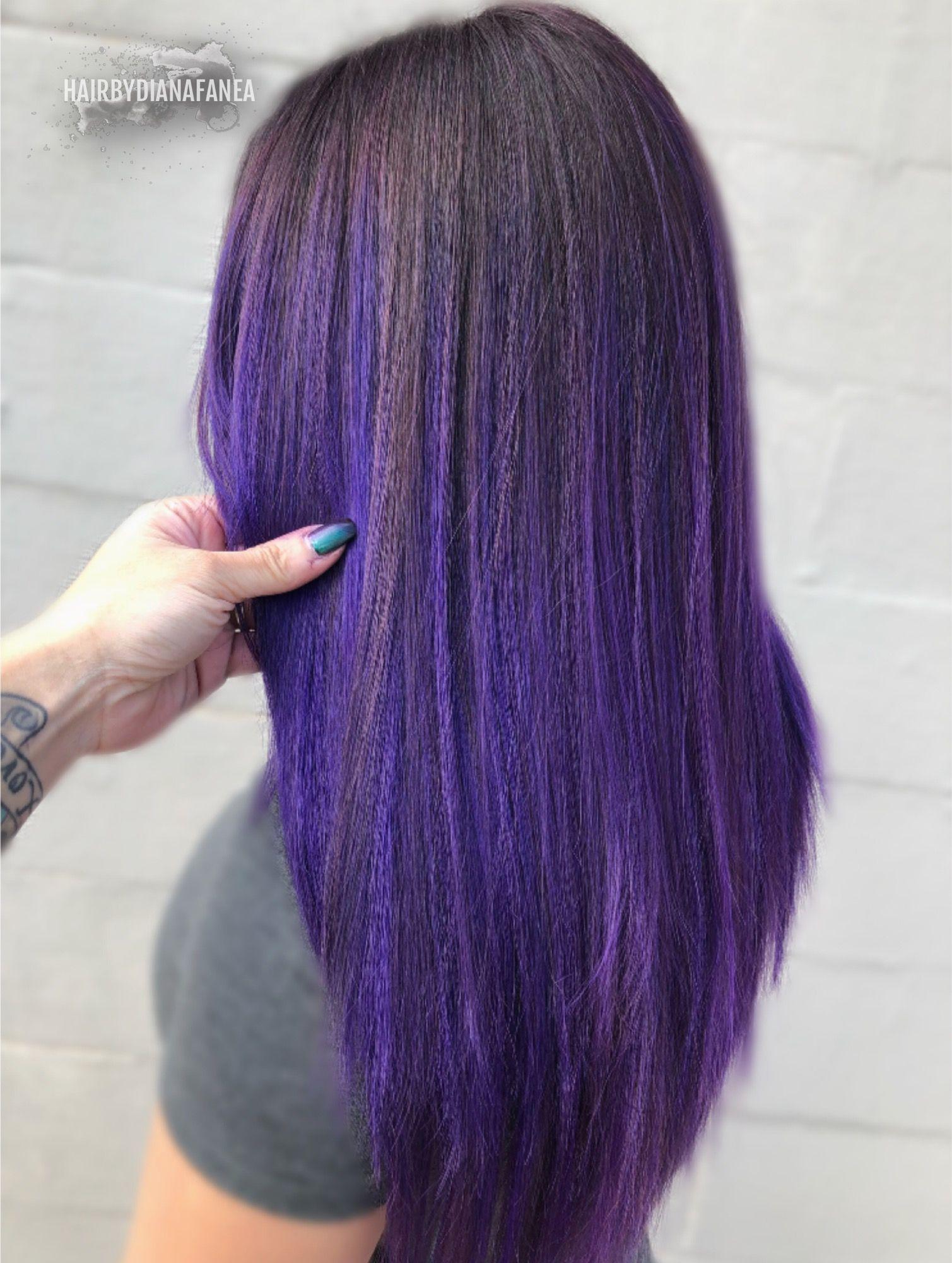 Purple Purple Hair Purple Balayage Violet Amethyst Vivid Hair Hair