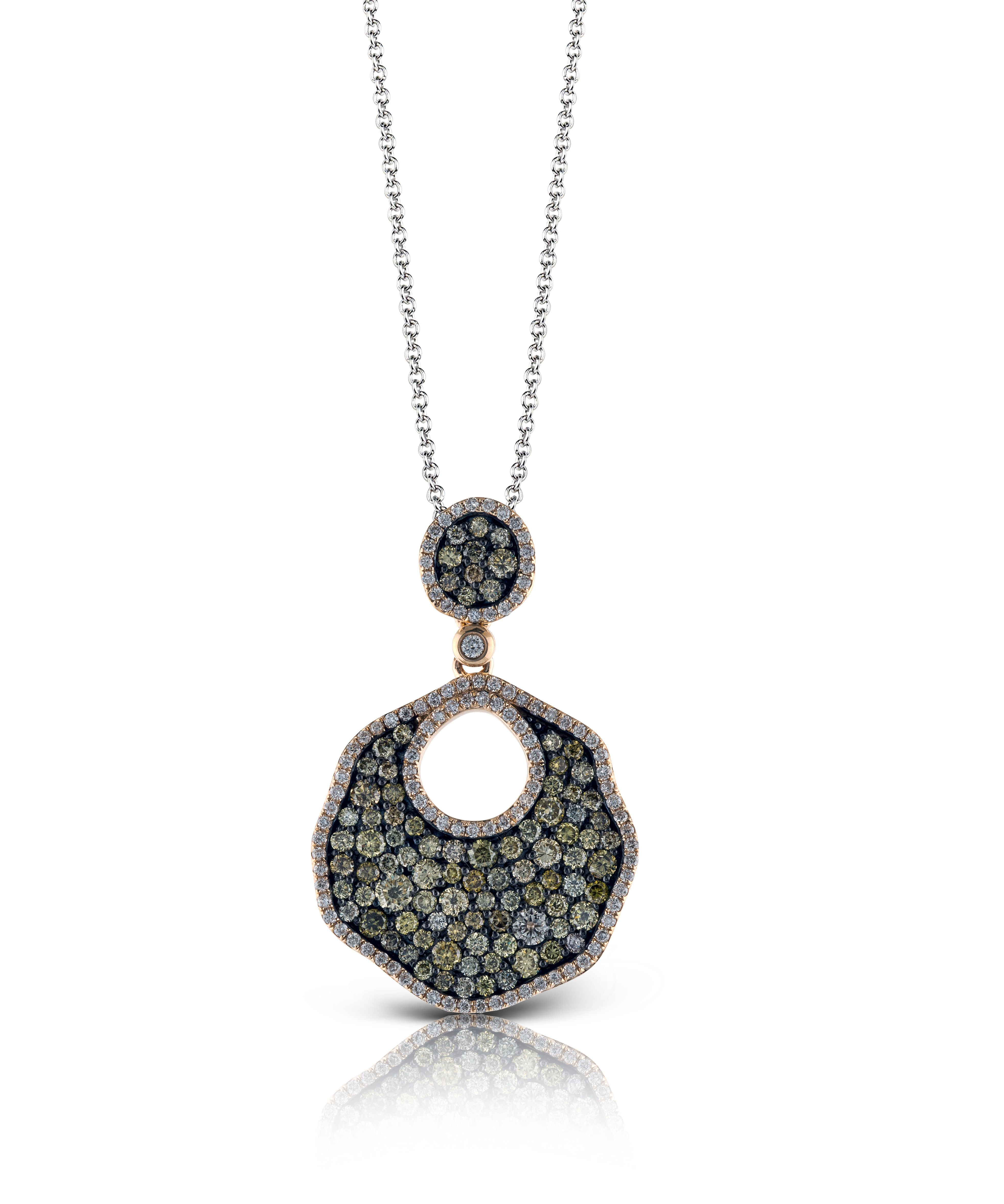 This marvelous k rose and black gold pendant part of our ombre