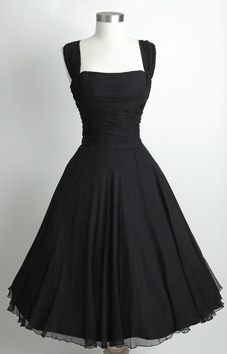 Black retro dress. This is so my style