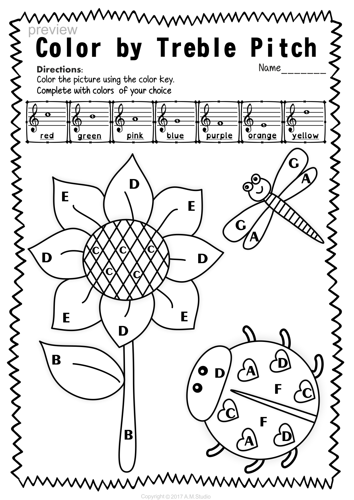 worksheet Note Naming Worksheets For Piano treble clef note naming worksheets for spring music spring