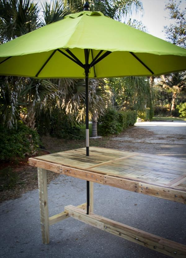 stunning wood patio table with umbrella doors