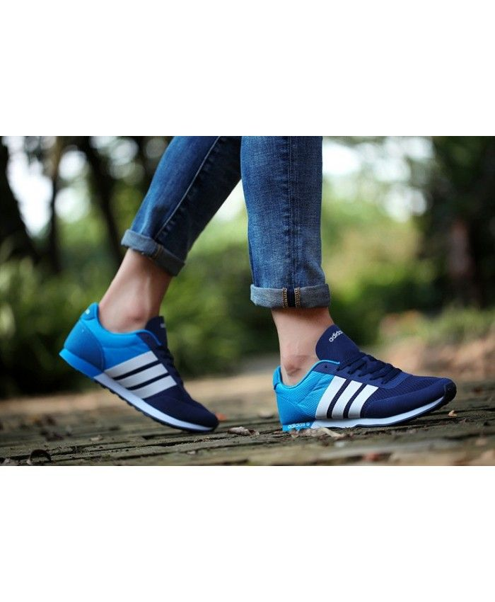 bb51930c22c8 Adidas Neo 1 Mesh Skyblue Navy Trainer Showing the characteristics ...