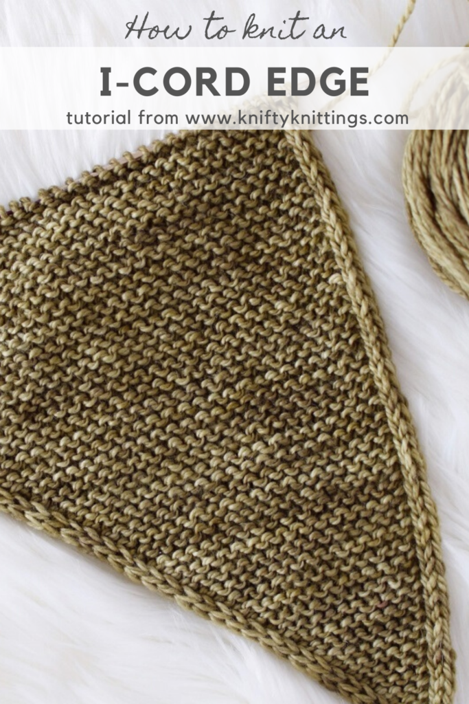 Photo of How to knit an I-cord edge