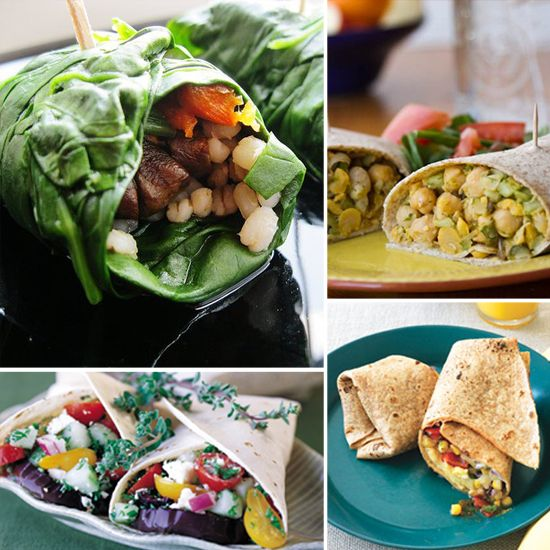 Wraps are FANTASTIC for fast & healthy meals, love them! I'm always looking for more ideas...16 Healthy Wrap ideas