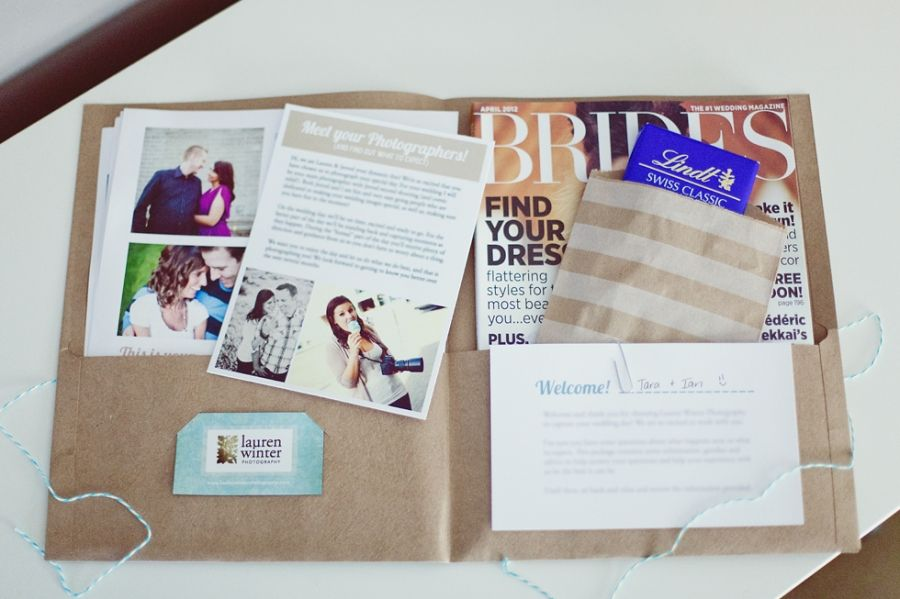 Wedding Welcome Packages Lauren Winter Photography Tangible Or Digital