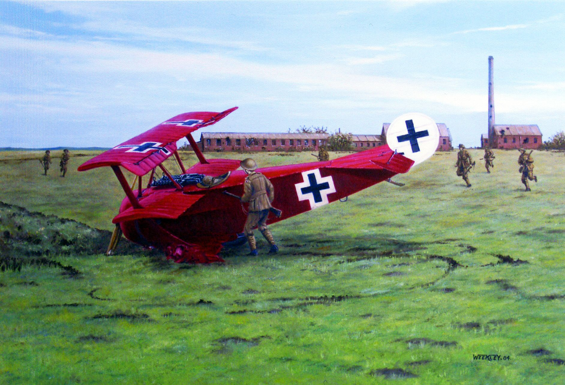 Canadian troops shooting down the famed Red Baron