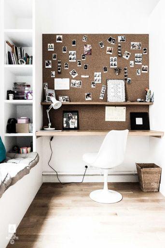 se créer un bureau inspirant | bureau, idée déco chambre et coin