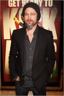 men in suit with beanie - casual Brad Pitt d8309e63e58