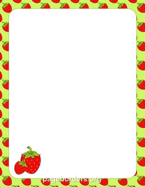 Cadre fraises