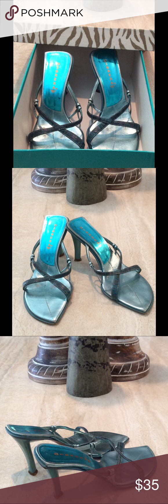 DIBRERA Heels by Paola Zannoli Pre-Owned Heels Made in Italy Sz 37 Scuff on tip of toe DIBRERA Shoes Heels