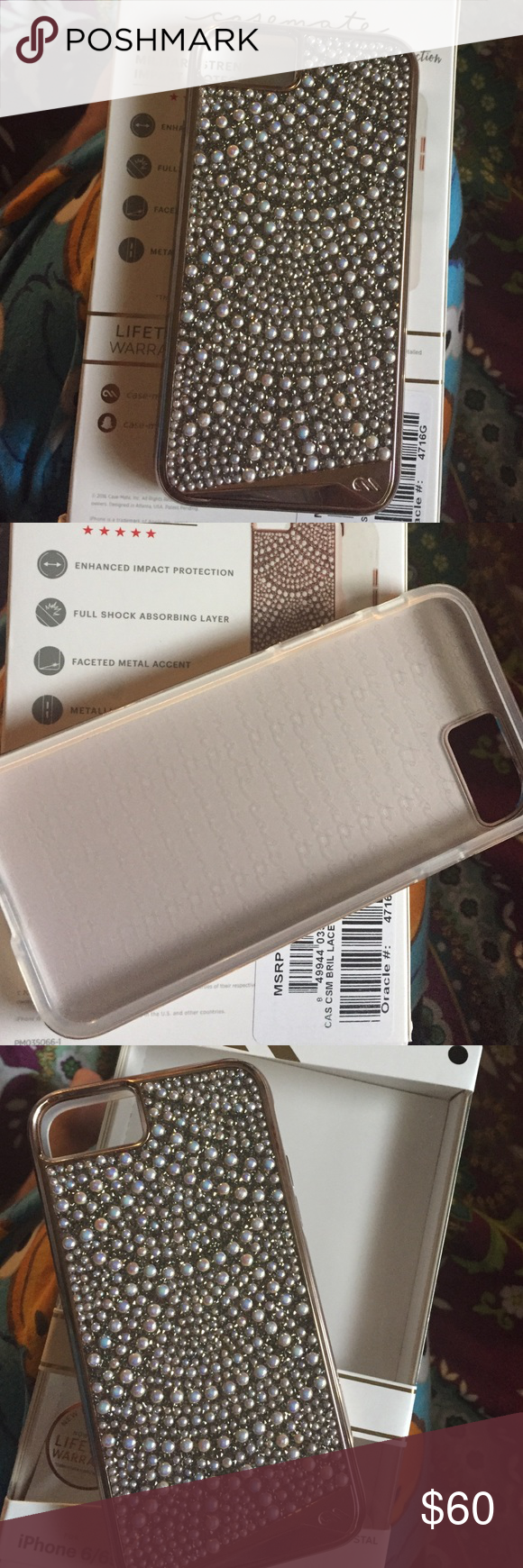 CASEMATE FOR IPHONE 7 & IPHONE 6 GENUINE CYSTAL! Brand new case mate! Comes with box! Reasons to sell is that i have more cases! Dual protection Casemate Accessories Phone Cases