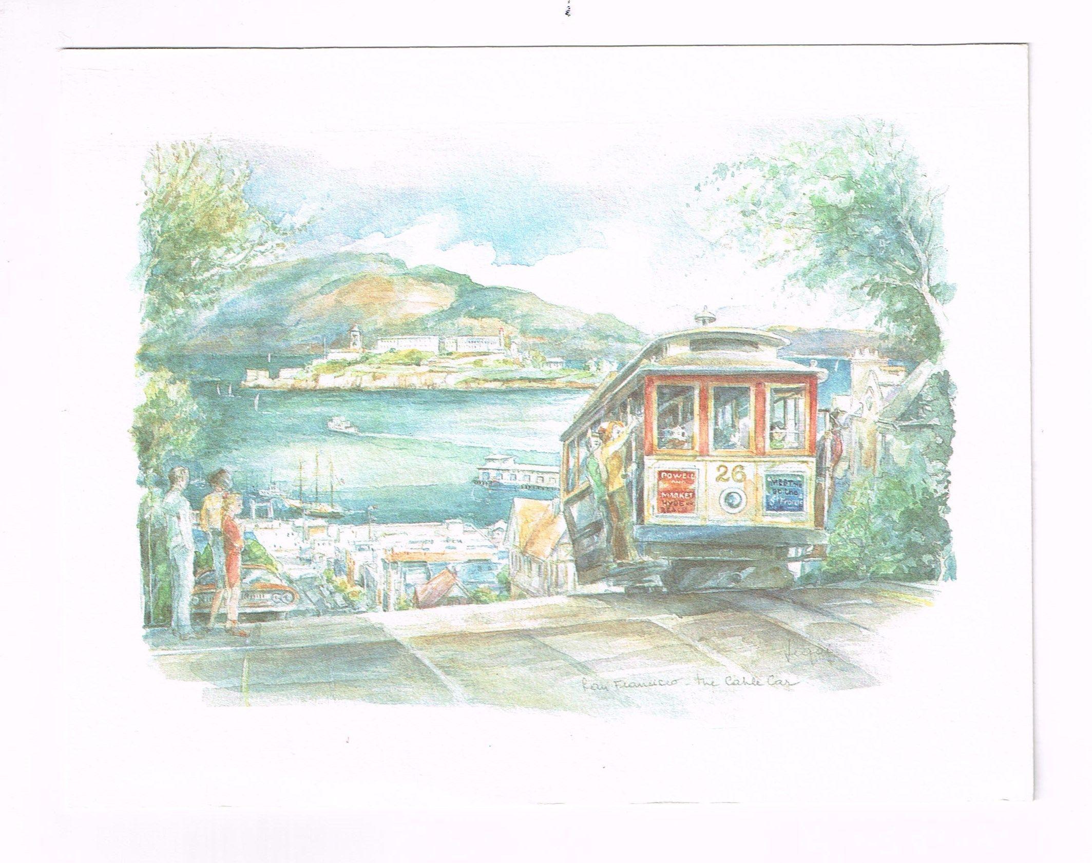 San Francisco Trolley - In Watercolor