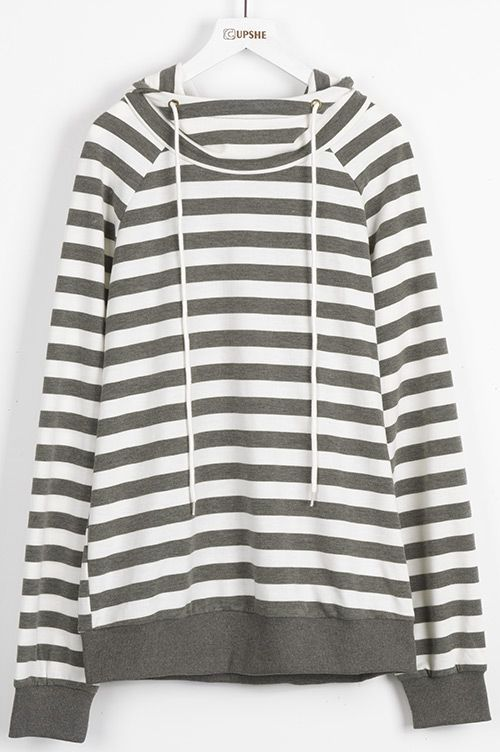 2f1b034bfebad0 This striped hoodie detailed with long drawstring high neck gonna brighten your  day. Can t wait to get it at Cupshe.com !