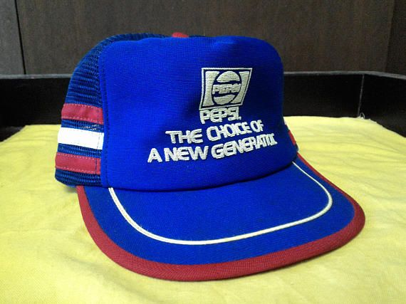 8b0dcf99387 Vintage 70s 80s Pepsi Cola Trucker Snapback Hat Cap Great vintage condition  Made in USA Brightly