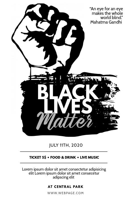 Black Lives Matter Flyer Design Template Postermywall Black History Month Posters Black History Month Flyer Design Templates