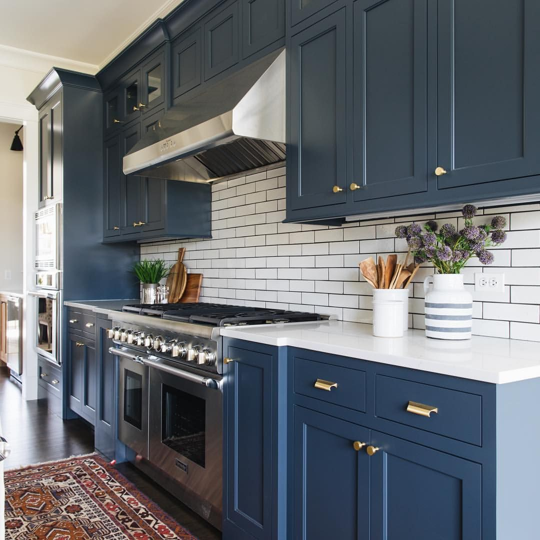 Blue Kitchen Cabinet Benjamin Moore Newburyport Blue Cabinets Paint Kitchen