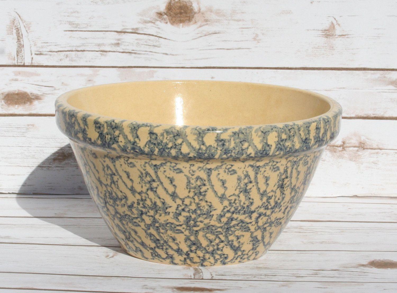 Roseville Pottery Spongeware Bowls Robinson Ransbottom ...