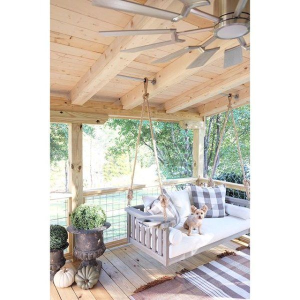 sunday porch swing with cushions porch swing porch on porch swing ideas inspiration id=32175