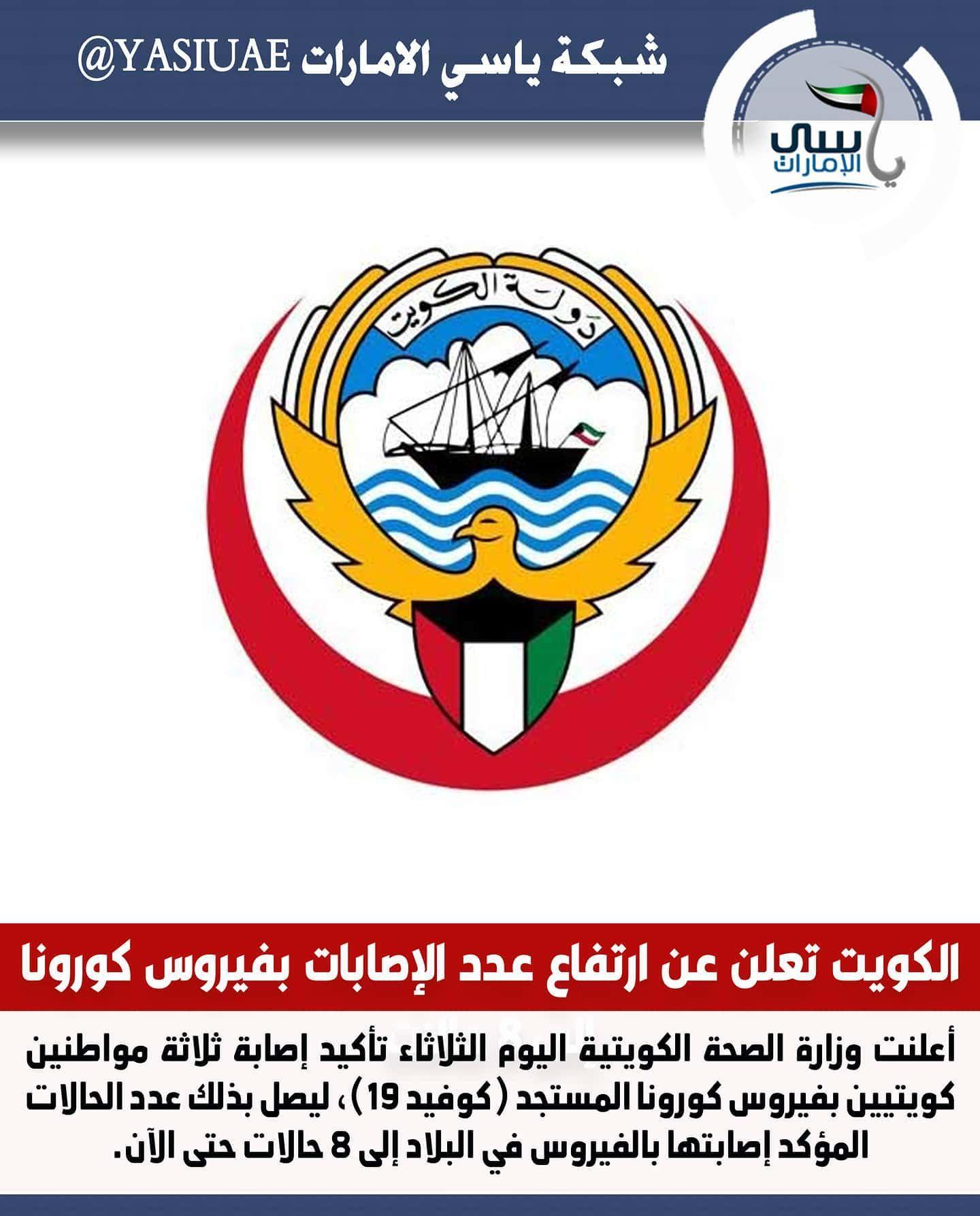 الكويت تعلن عن ارتفاع عدد الإصابات بفيروس كورونا إلى 8 حالات ياسي الامارات شبكة ياسي الامارات شبكة ياسي الامارات الاخباري Sis