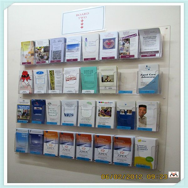 A3 Acrylic Brochure Holder Wall Mounted Acrylic Holder Acrylic Holder Display Brochure Display Literature Display Rack Brochure Holders
