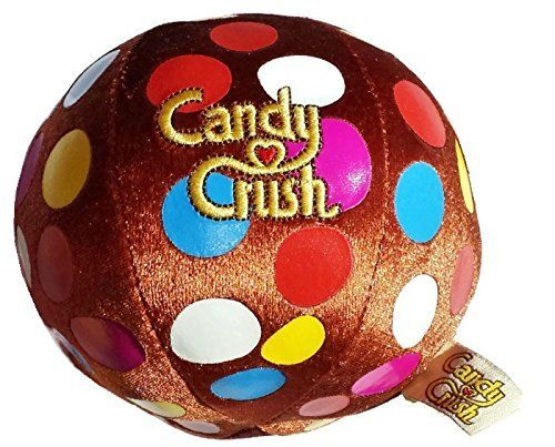 """Candy Crush 5"""" Brown Chocolate Color Bomb Plush with Sound"""