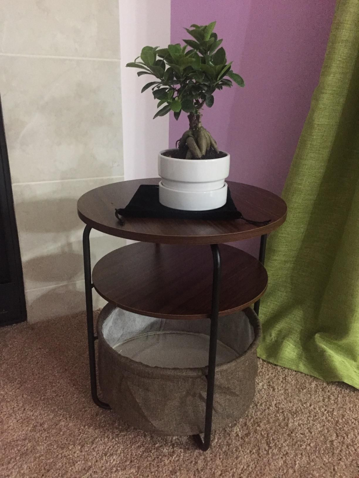 Amazoncom Lifewit 3tier Round Side End Table with Storage Basket