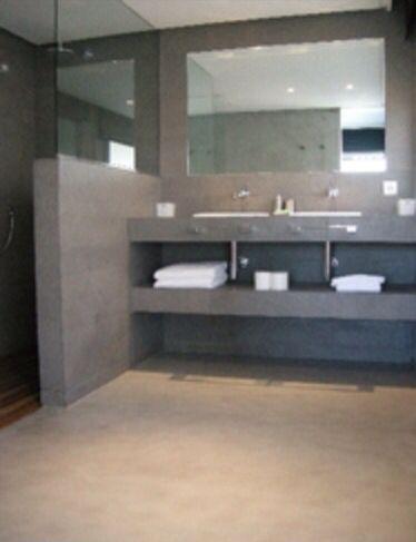 Meuble plan vasque béton | Badkamer | Pinterest