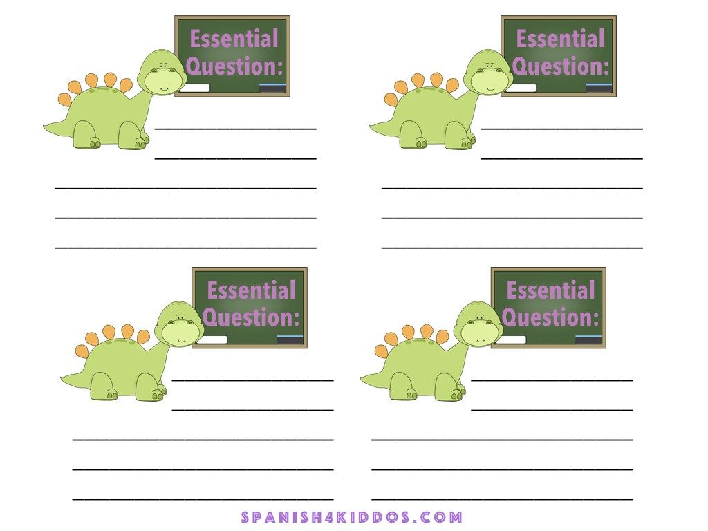 Color Dinosaur Theme Essential Question For Your Lessons