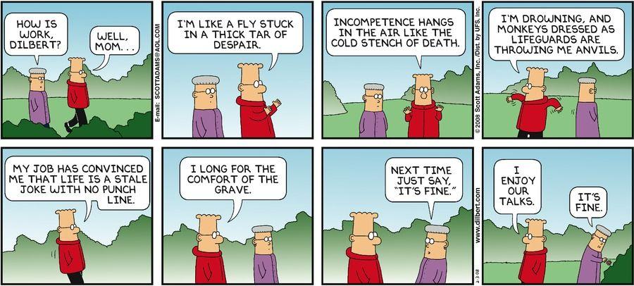 Dilbert by Scott Adams | Dilbert comics, Comic strips, Scott adams