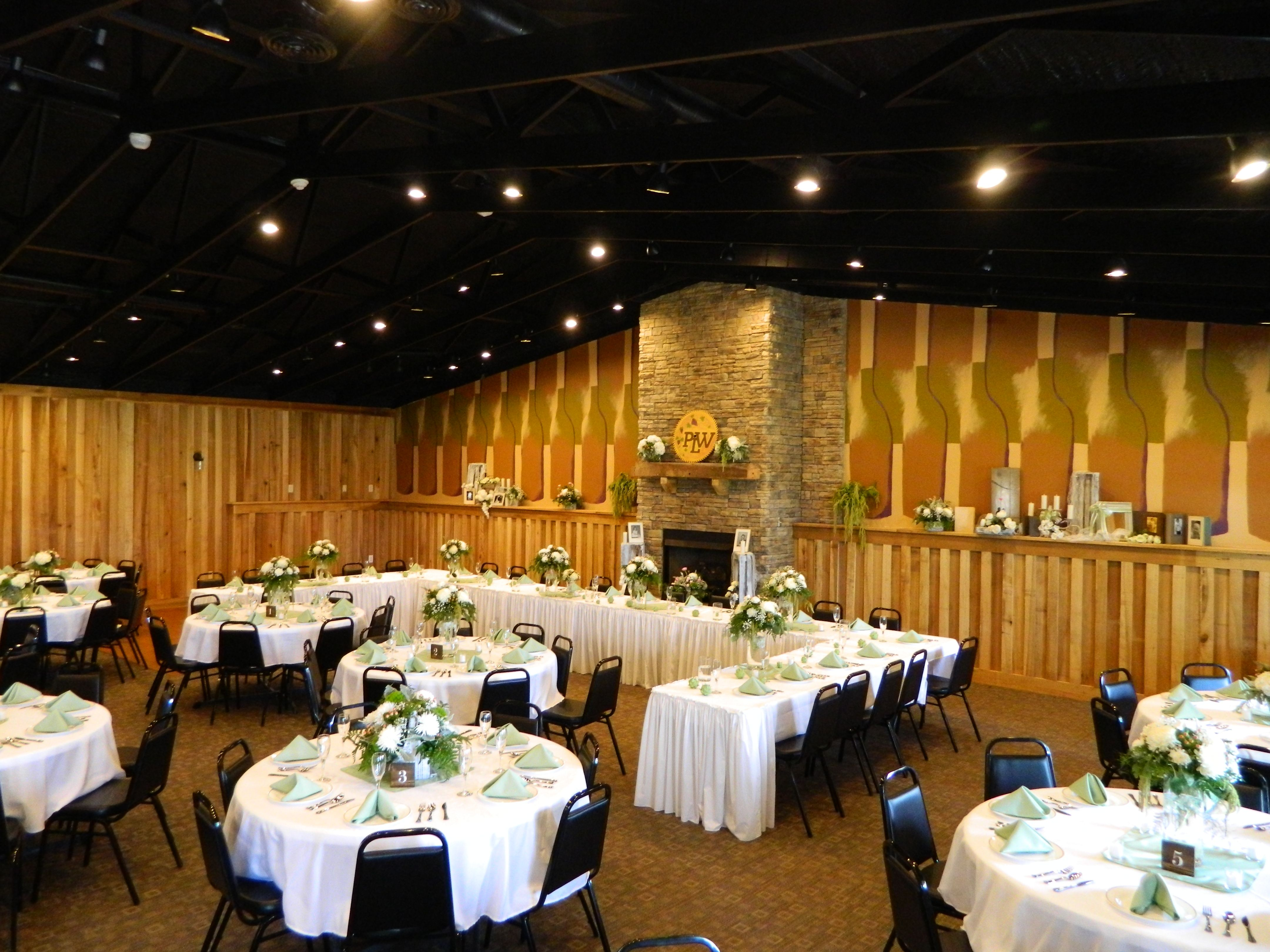 Patoka Lake Winerys Event Center Set Up For Our 3rd Wedding Reception