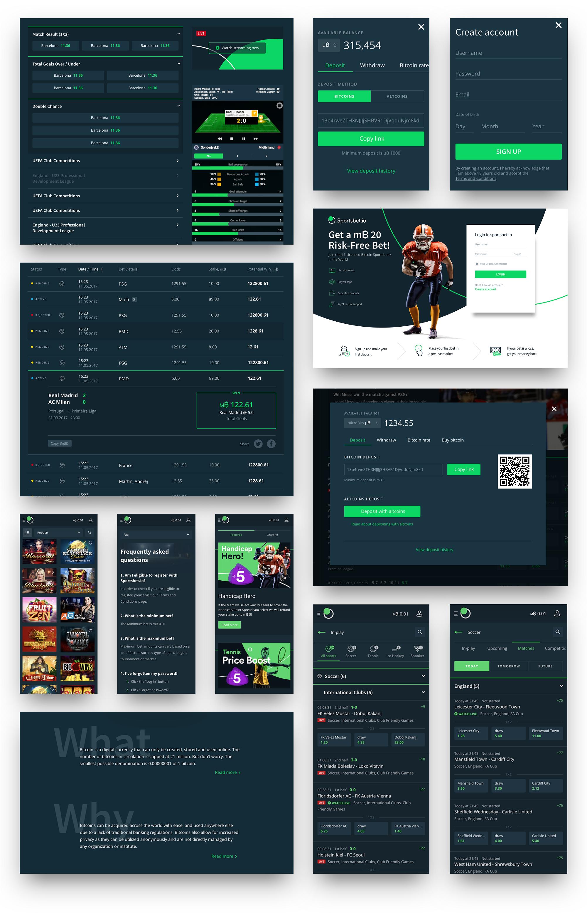 Pin on Sports Betting UI UX