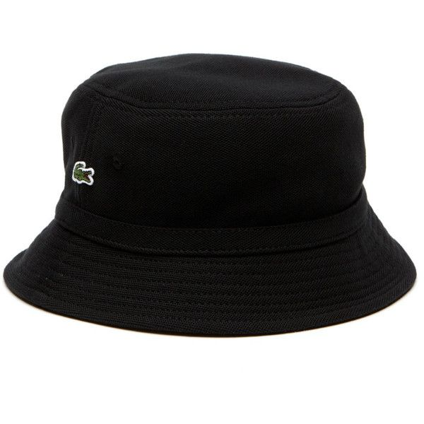 6bfecf23df8 Lacoste MEN S PIQUE BUCKET HAT ( 55) ❤ liked on Polyvore featuring men s  fashion