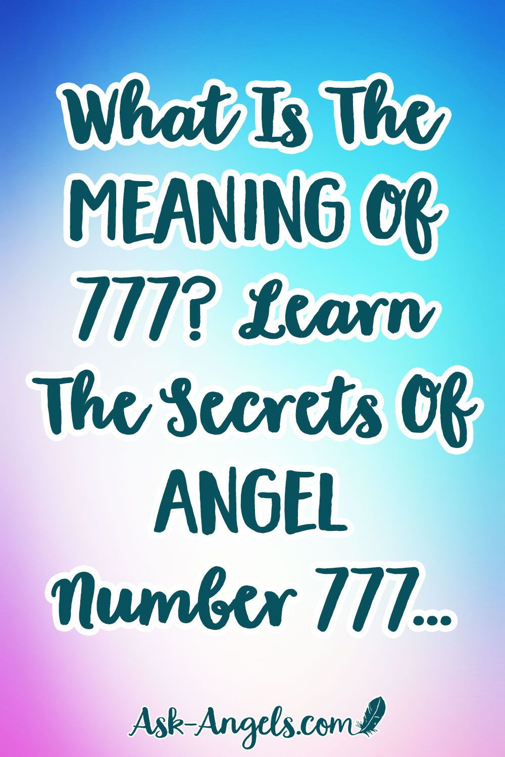 Angel Number 777 | Angel Messages | Spiritual guidance, Angel