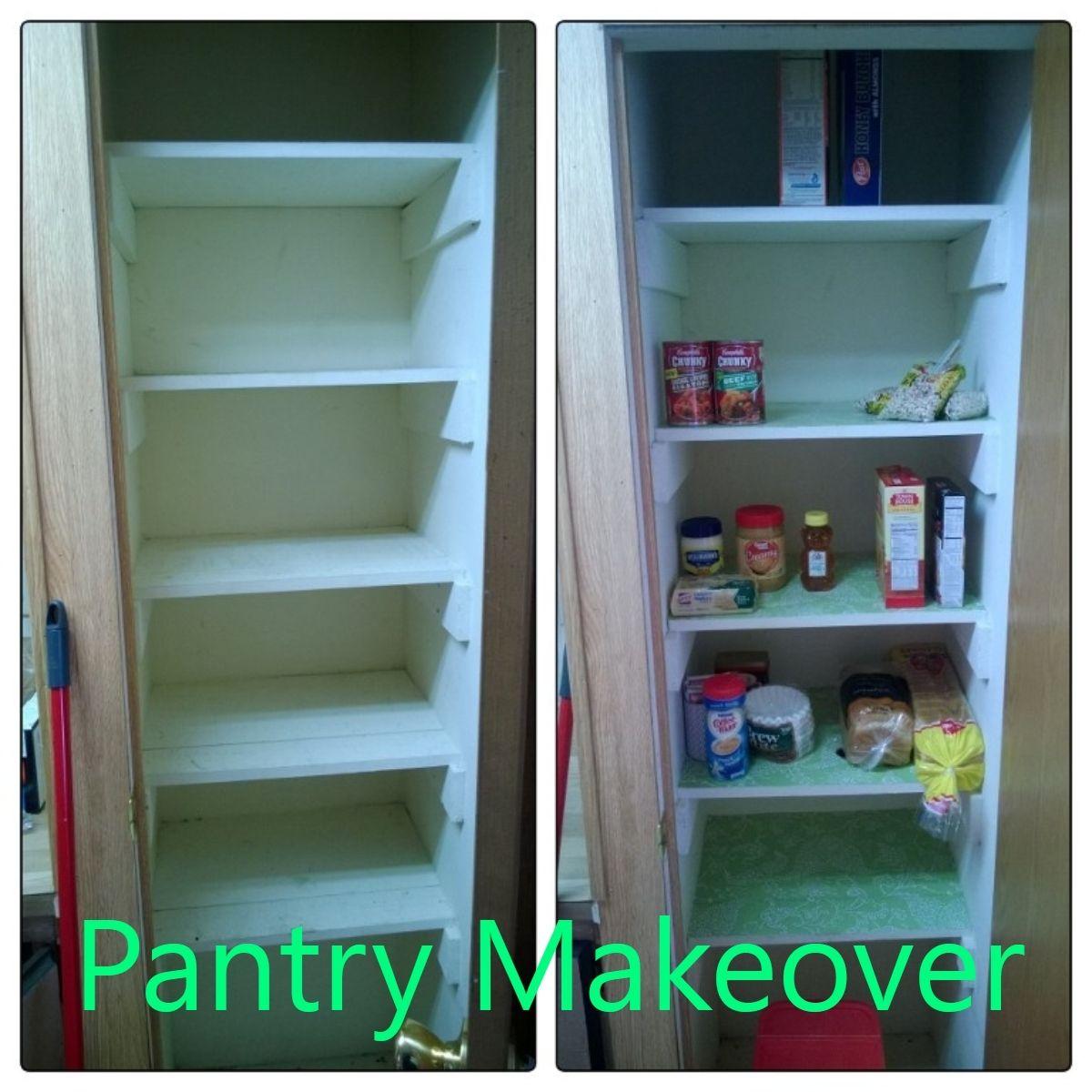 Kitchen pantry shelf liner