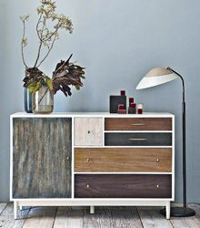 Love Love Love The Patchwork Dresser By West Elm Has The Handcrafted Appeal Of A Quilt With Five Drawers And A Cabinet With Images Diy Furniture Stained Dresser Furniture