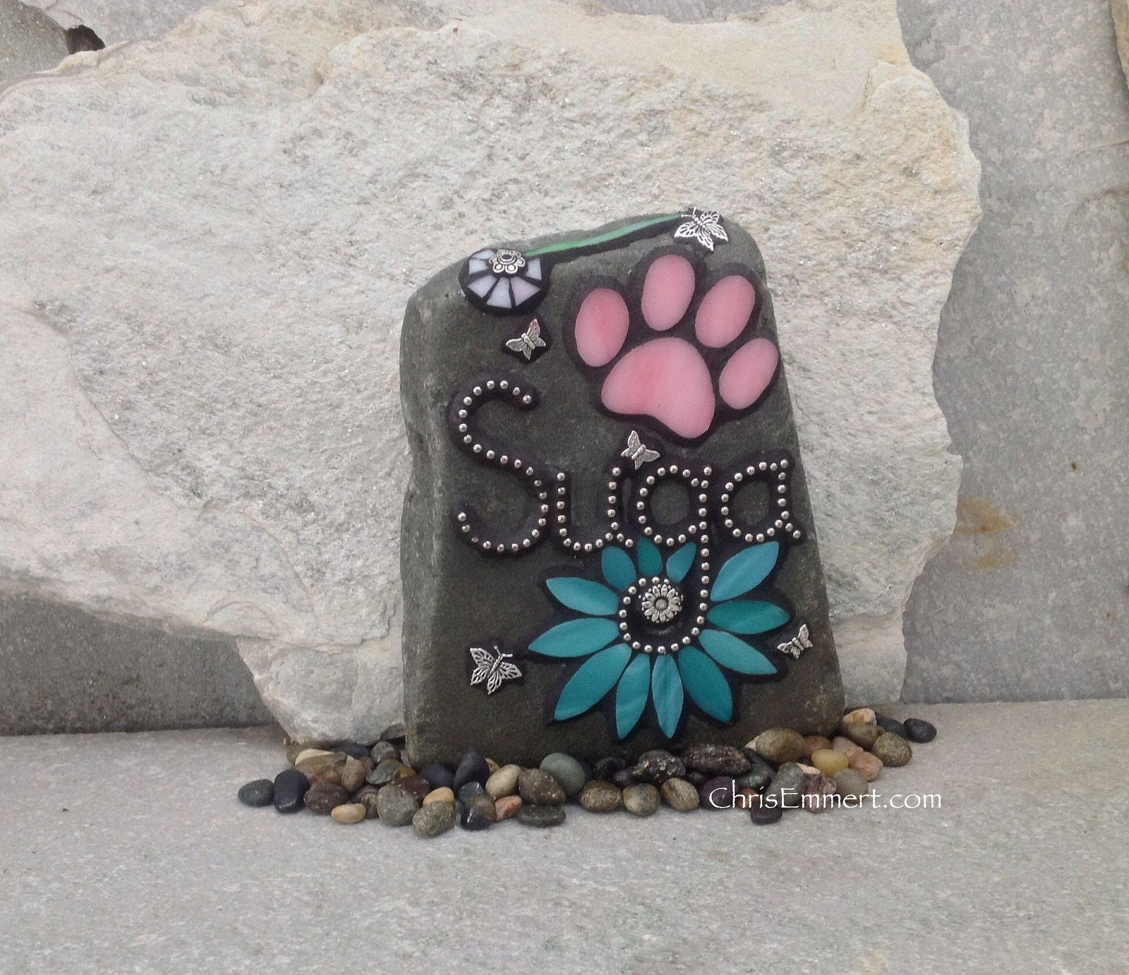 stones pet photo mosaics flickr garden memorials mosaic pin sharing memorial