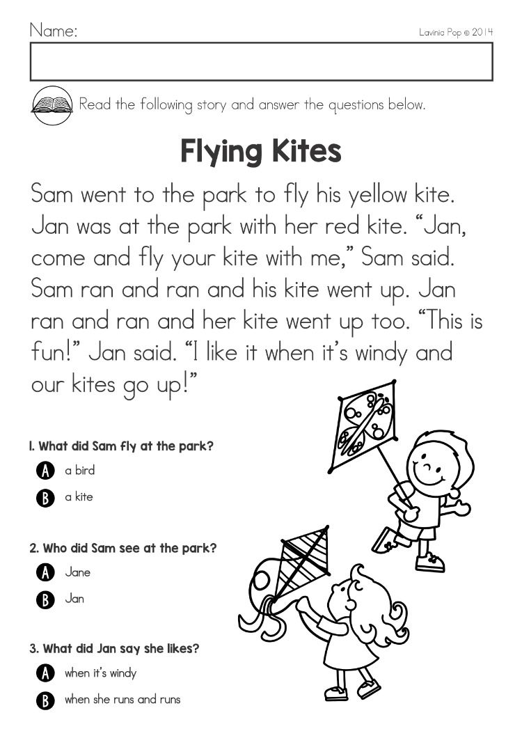 Spring Kindergarten Math and Literacy Worksheets \u0026 Activities Distance  Learning   Reading comprehension worksheets [ 1060 x 750 Pixel ]