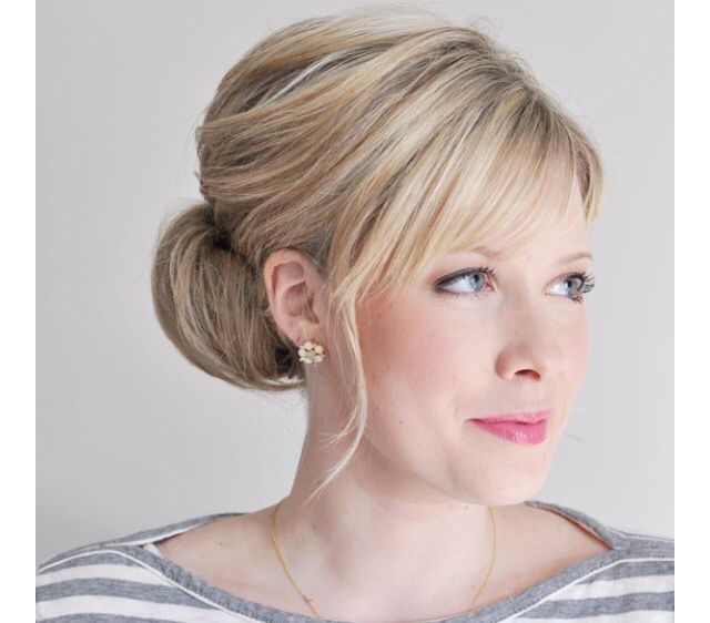 Hairstyle For Wedding Front View: Chignon Hair, Interview Hairstyles
