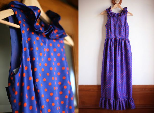 Vintage Polka Dot Dress, Refashioned
