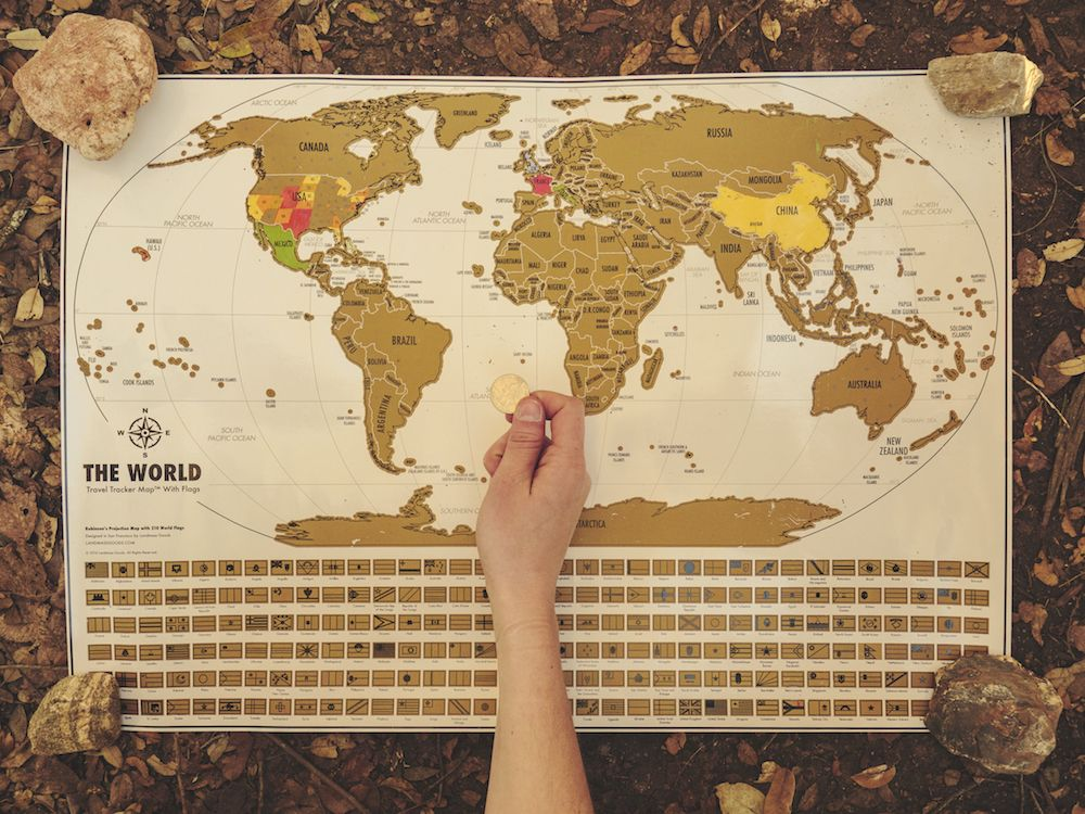 Scratch off where youve been and inspire your next adventure with landmass travel gifts and travel accessories scratch off world map gumiabroncs Image collections
