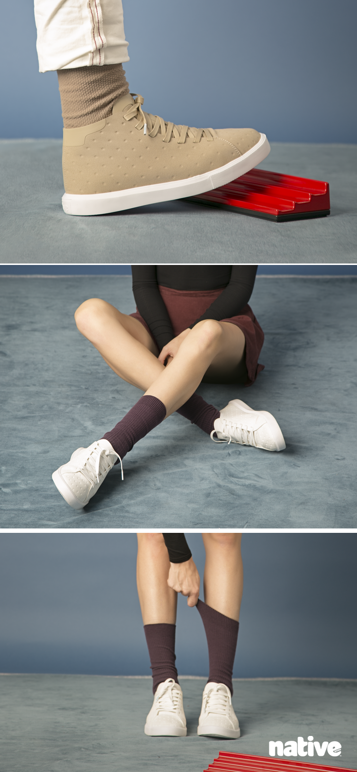 The Native Shoes Monaco–with a slim profile, no-sew accents and a microfibre upper, they're surely shoes for the modern trendsetter. #keepitlite #beastfree