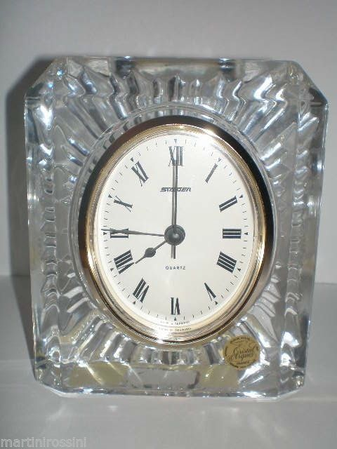 7bc026950d Details about Staiger Crystal Analog Quartz Table Clock | What Time ...