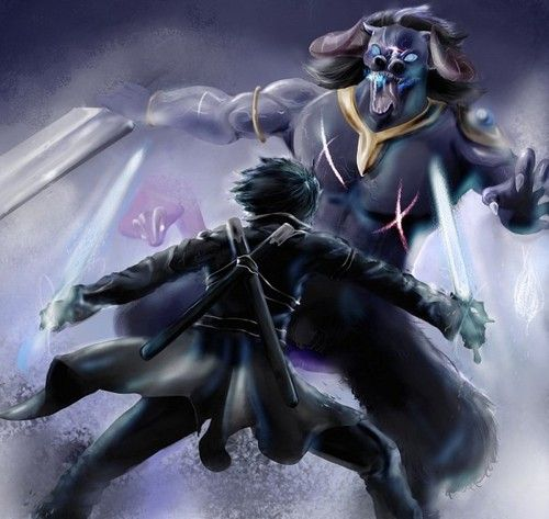 Sword Art Online Kirito And The Blue Eyed Demon